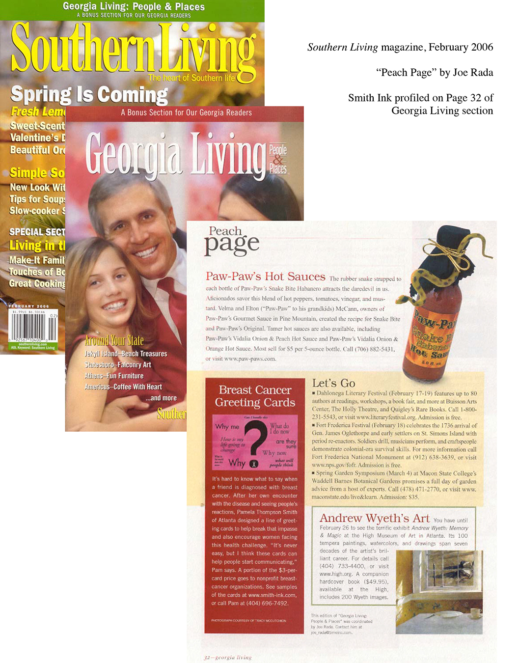 Southern Living Magazine Article about Pamela Smith, Smith Ink, LLC