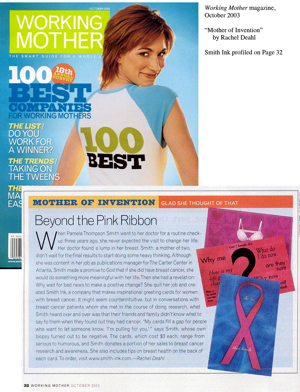 Working Mother Magazine Article about Pamela Smith, Smith Ink, LLC