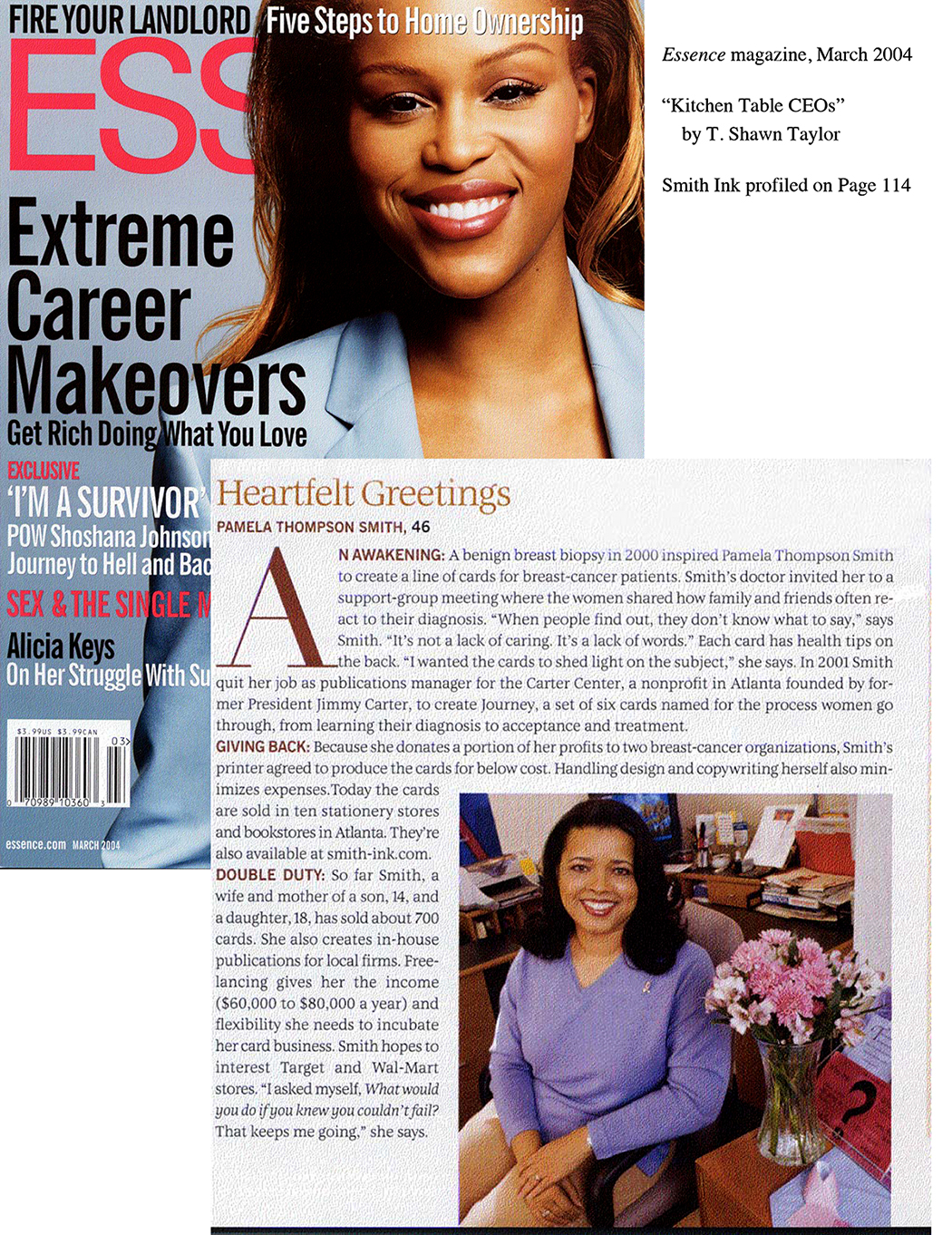 Essence Magazine Article about Pam Smith, Smith Ink, LLC